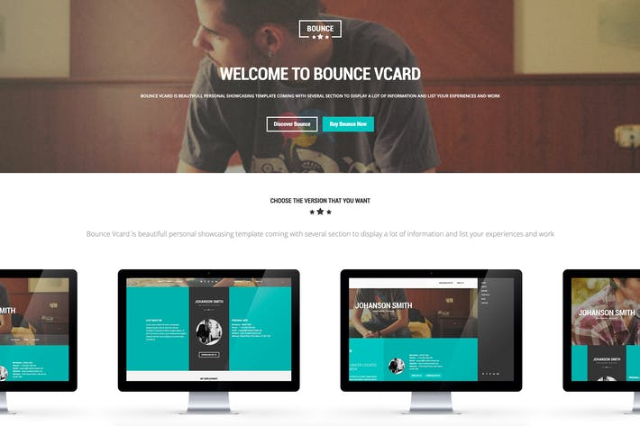 Thumbnail for BOUNCE - Responsive One Page Vcard Template
