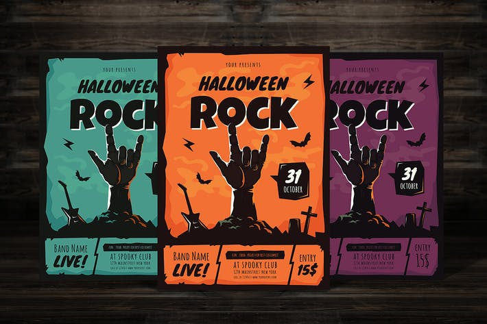 Thumbnail for Halloween Rock Flyer