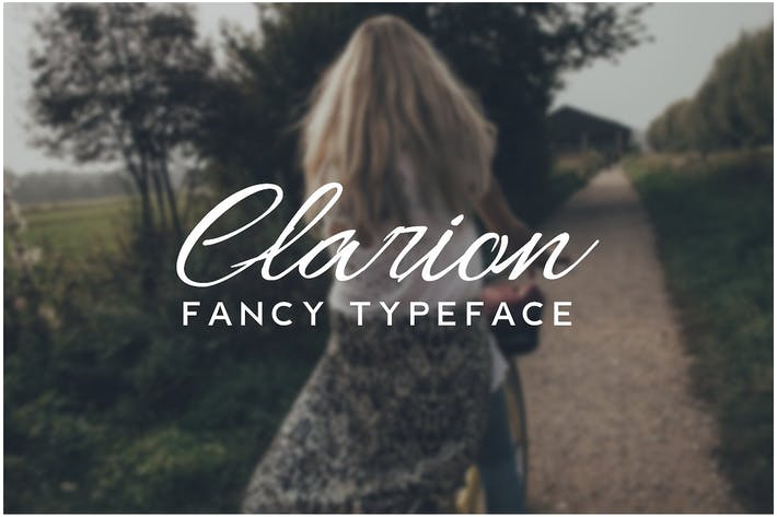Thumbnail for CLARION -  Fancy Handwriting / Decorative Typeface