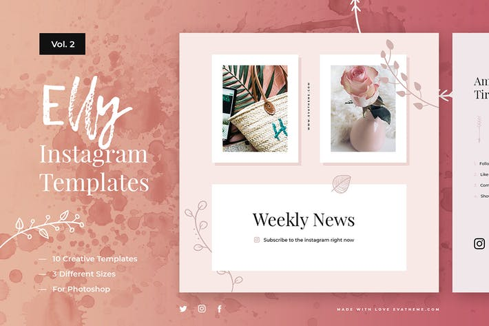 Thumbnail for Elly Instagram Templates Vol.2