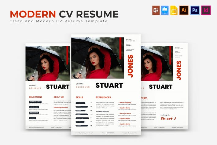 Thumbnail for Modern | Resume Template