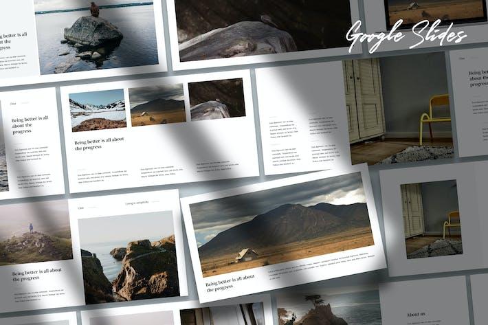 Cover Image For Clea - Portfolio Google Slides Template
