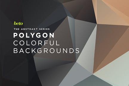Abstrakte Polygon-Hintergründe V16