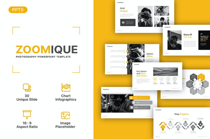 Zoomique Photography Presentation Template