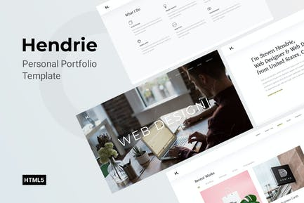 Hendrie - Personal One Page Template