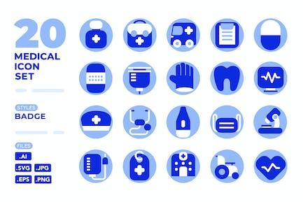 Medical Icon Set (Badge)