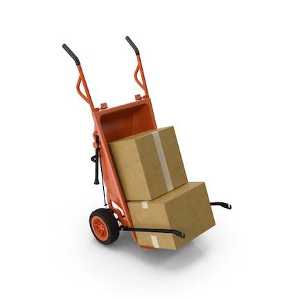 Einkaufswagen mit Kartonschachtel