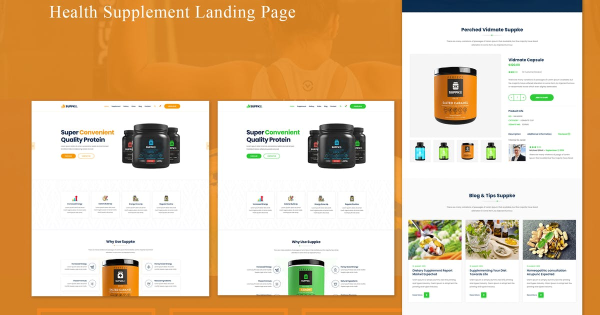 Download Suppke - Health Supplement Landing Page by ThemeBeyond