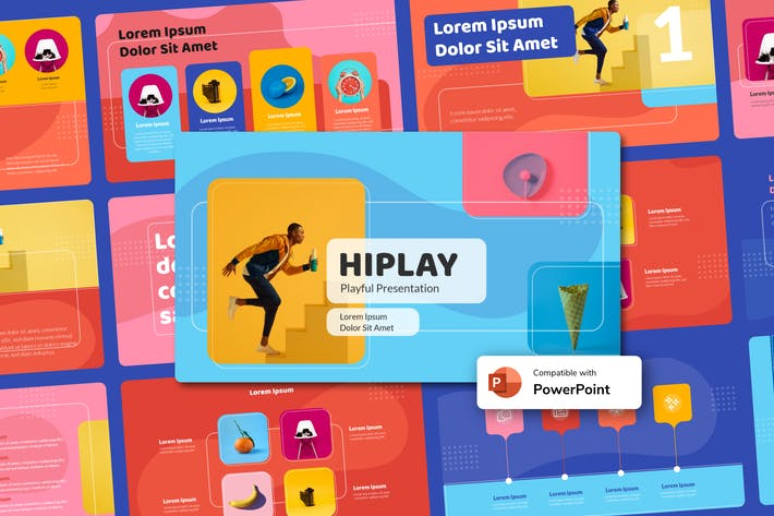 Thumbnail for HIPLAY - Playful Power Point Template