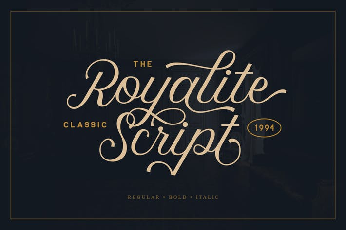 Thumbnail for Royalite Script Family