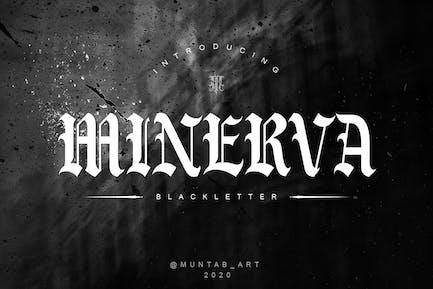 Minerva | Fuente de letra negra