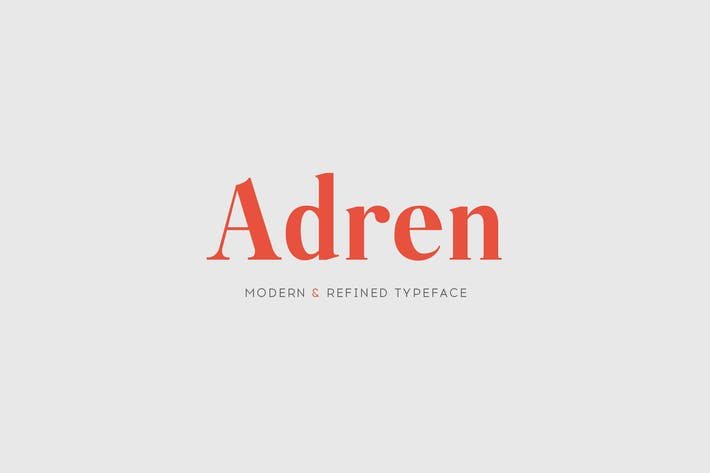Thumbnail for Adren - A Modern & Refined Typeface