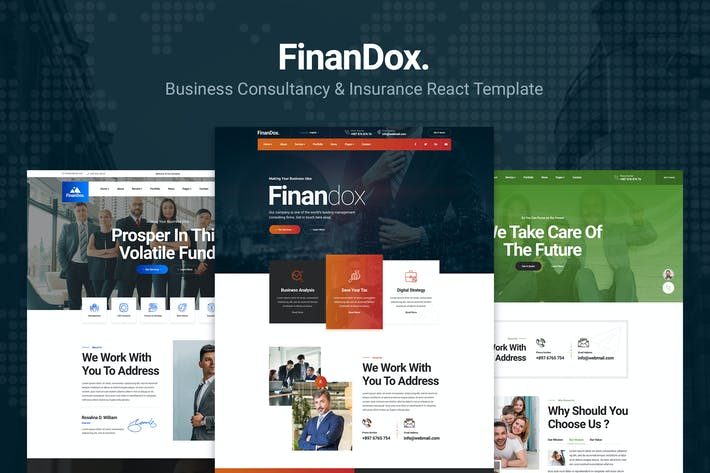 Finandox - ReactJS Business Consulting Template