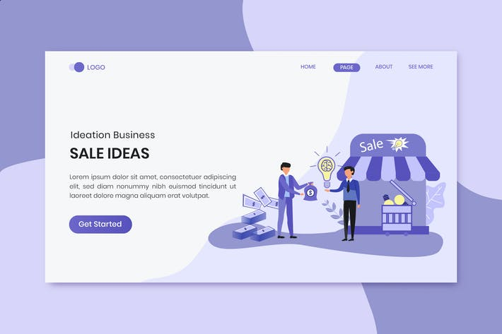 Thumbnail for Sale Ideas Business Marketing Landing Page