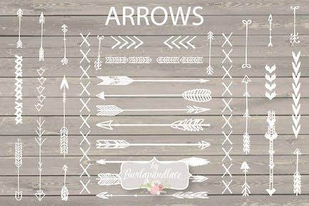 Arrows hand draw