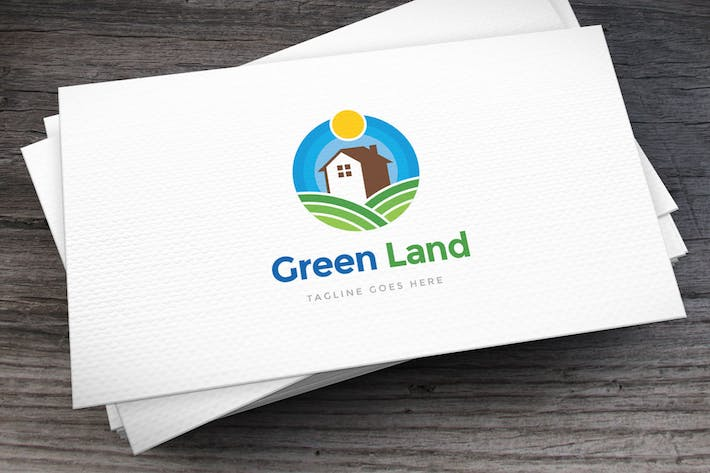 Thumbnail for Green Land Logo Template