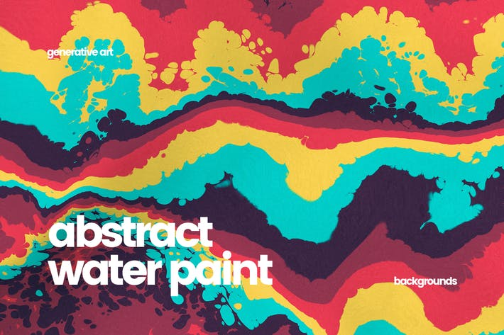 Thumbnail for Abstract Water Paint Backgrounds