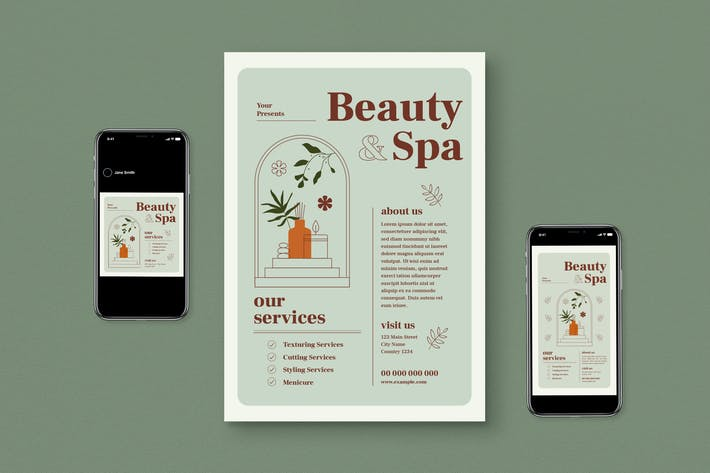 Beauty & Spa Flyer Set