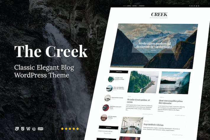 Thumbnail for Creek - Klassische elegante Blog WordPress Thema