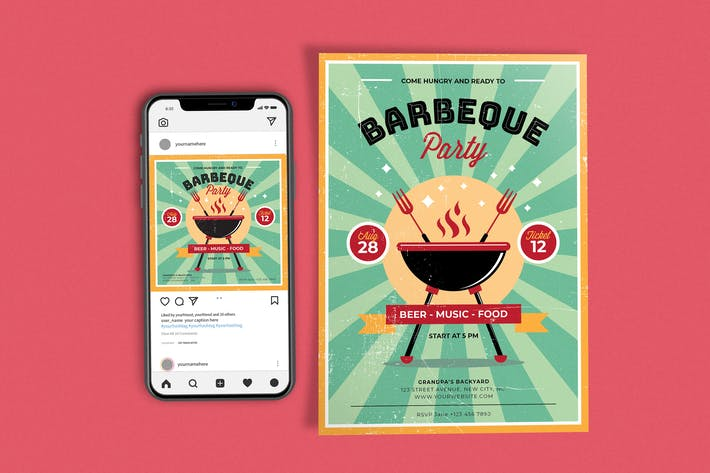 BBQ Party Template Set