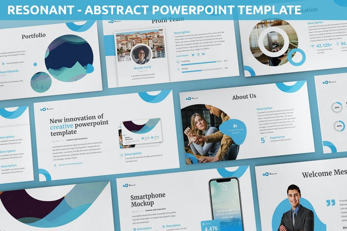 Thumbnail for Resonant - Abstract Powerpoint Template