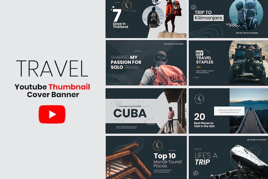 Travel YouTube Thumbnail Template