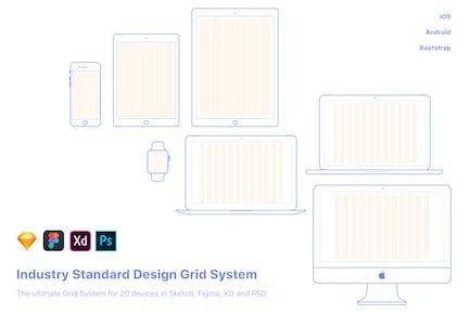 Système UX-Design Grid pour 20 appareils