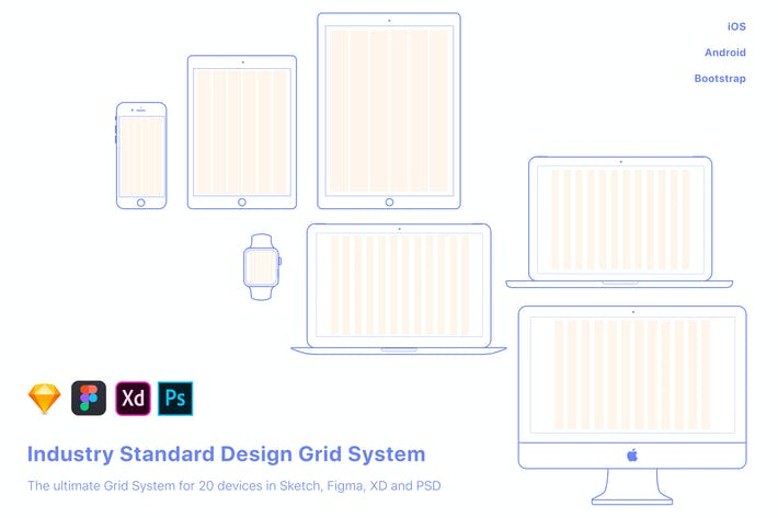 Thumbnail for UX-Design Grid system for 20 devices