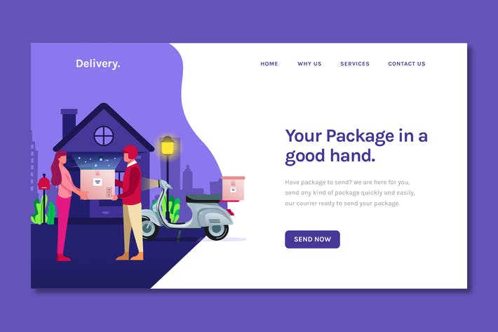 Thumbnail for Shipping Delivery - Landing Page Template