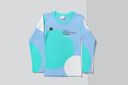 Girls Full Sleeve T-shirt Mockups