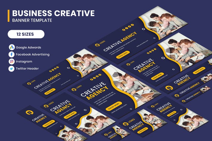 Thumbnail for Business Creative Google Adwords Banner Template