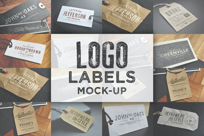 Thumbnail for Logo Labels Mock-ups