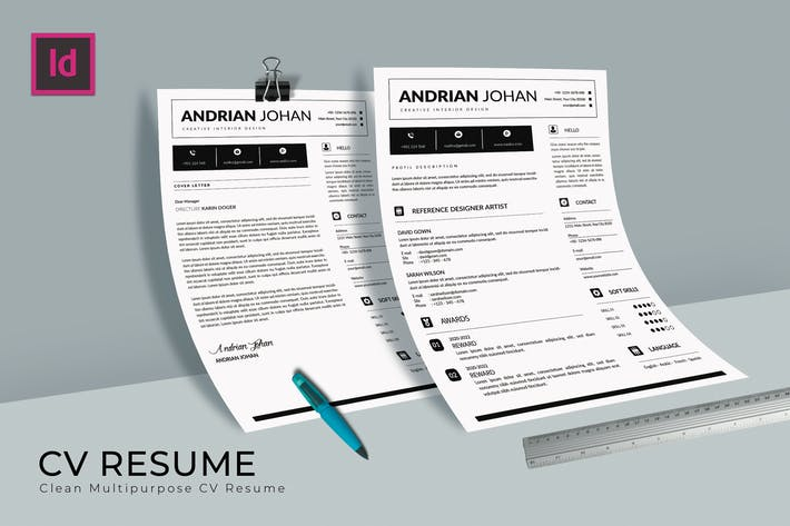 Thumbnail for Elementary CV Resume Template