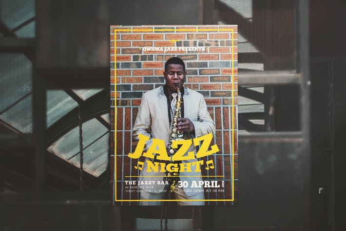 Cover Image For Jazz Night Flyer