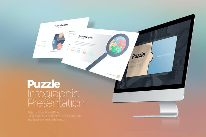 Cover Image For Puzzle Infographic Google Slides