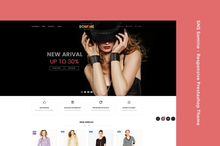 Thumbnail for SNS Somine - Responsive Prestashop Theme