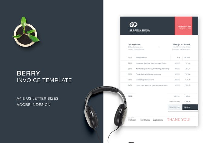 Download 132 Invoice Print Templates Compatible With Adobe Indesign