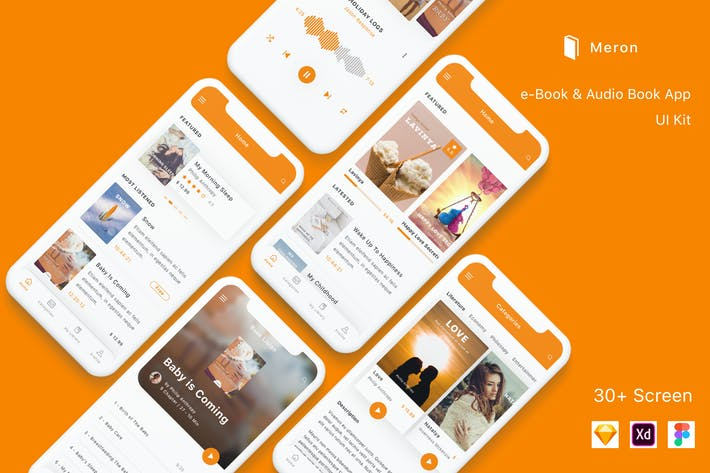 Thumbnail for Meron - e-Book and Audio Book App UI Kit