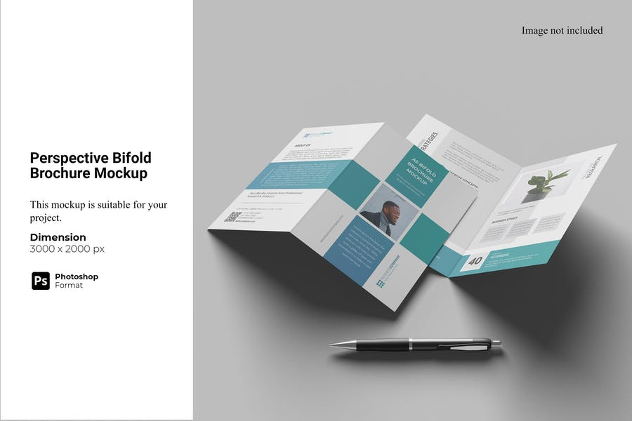 Perspective Bifold Brochure Mockup