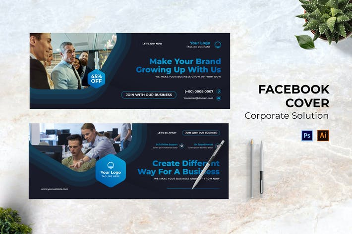 Corporate Solution Facebook Cover