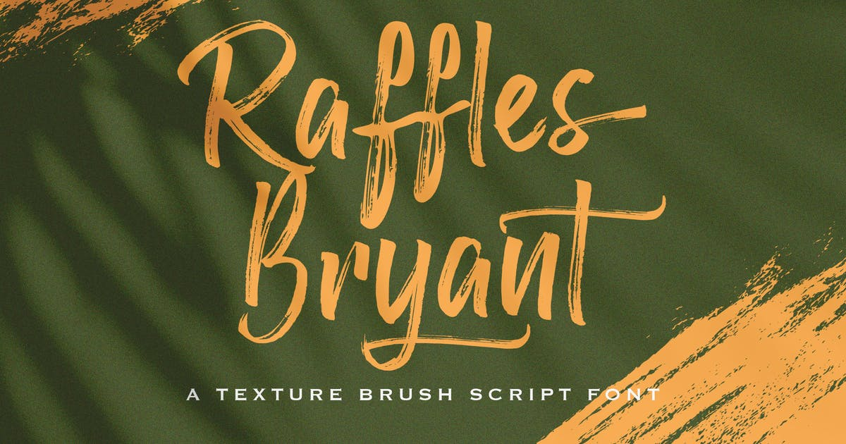 Download Raffles Bryant - Textured Brush Font by StringLabs