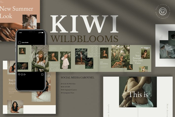 Thumbnail for Kiwi Wildblooms Insta Carousel