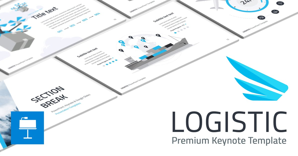 Download Logistic Keynote Template by Site2max