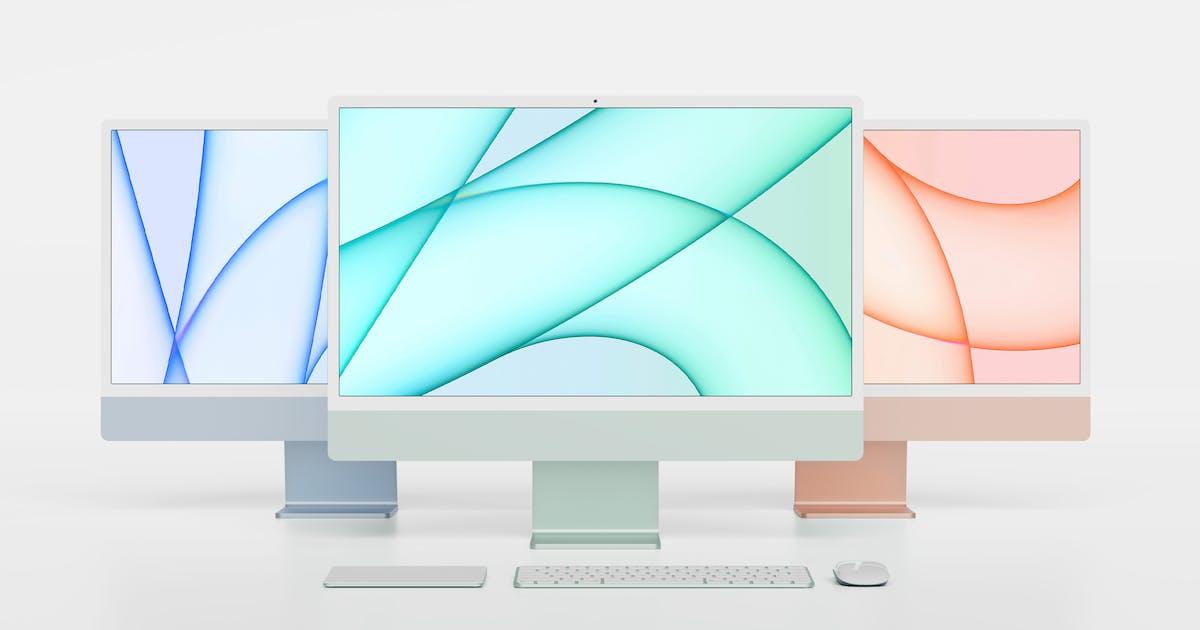 "Download iMac 24"" M1 Mockup by GraphicGata"