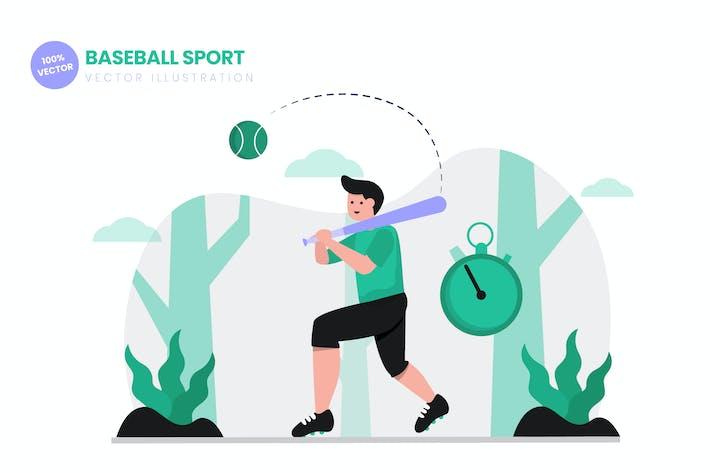 Thumbnail for Baseball Sport Flat Vector Illustration