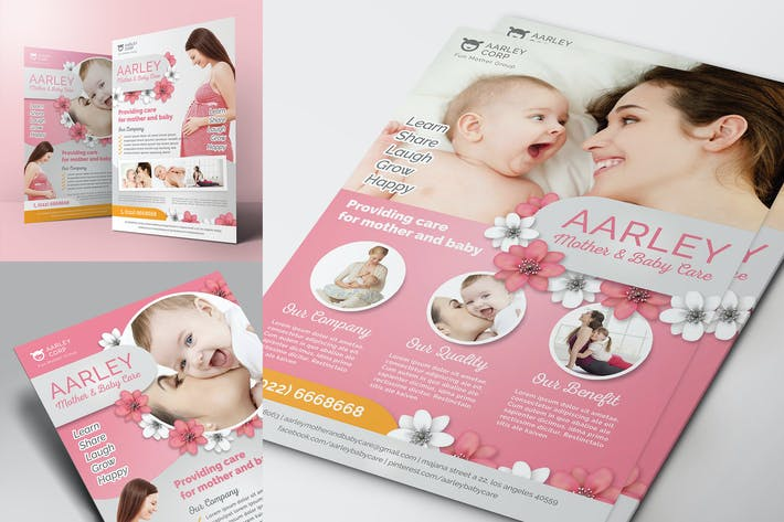 Thumbnail for Mother and Baby Care Flyer