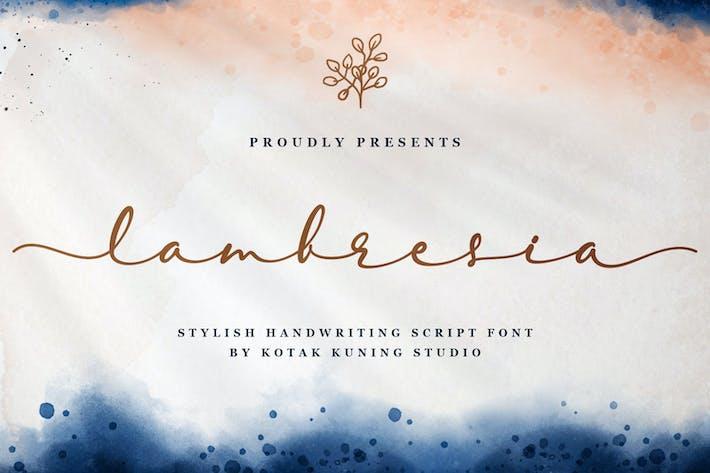 Thumbnail for Lambresia - Fuente Elegant Script