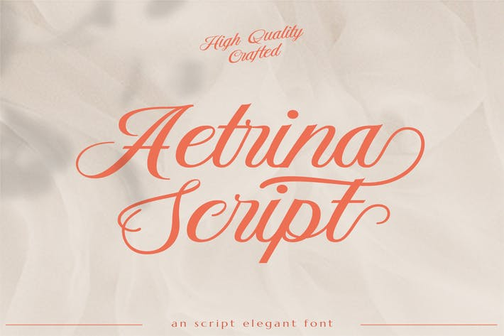 Thumbnail for Etrina Elegant Display | Font de mariage