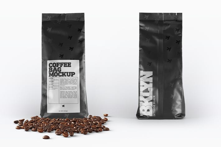 Thumbnail for Coffee Bag Packaging Mockup