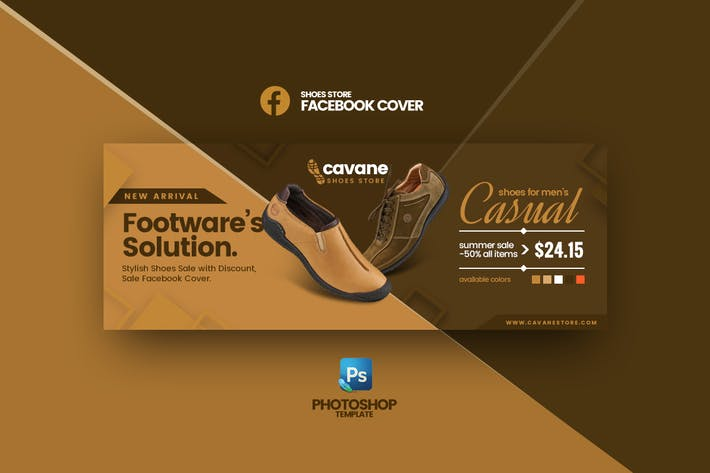 Thumbnail for Cavane - Shoes Store Facebook Cover Template